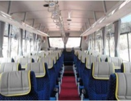 Highback seats in 2×2 or 3×2 configuration