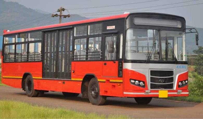 CNG bus with BRTS